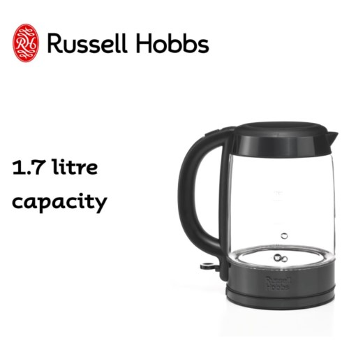 Brooklyn Glass Kettle Black Stainless Steel 360° RHK