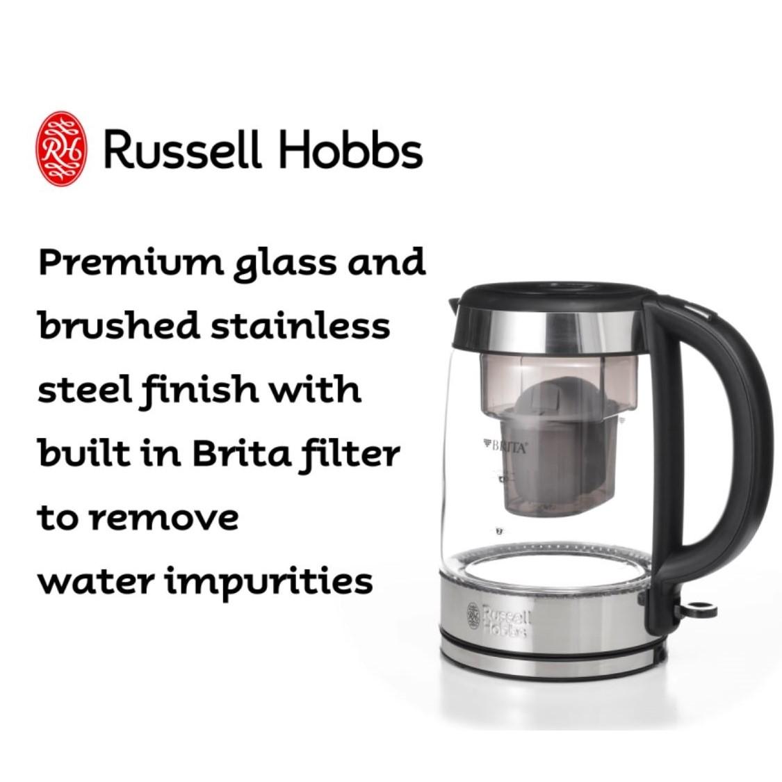 Brita Glass Kettle 360° RHK550 - Russell Hobbs