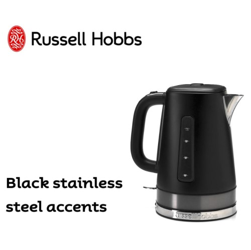 Brooklyn Kettle Black 360° RHK92BLK - Russell Hobbs
