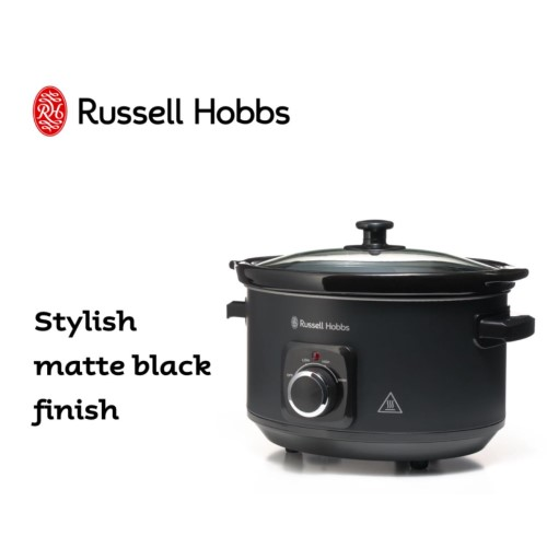 4L Matte Black Slow Cooker 360° RHSC4A - Russell Hob