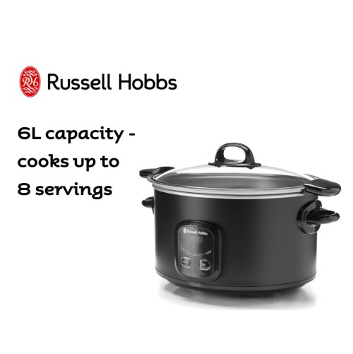 6L Searing Slow Cooker 360° RHSC650BLK - Russell Hob