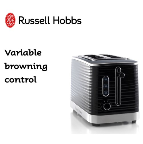 Inspire 2 Slice Toaster Black 360° RHT112BLK - Russe