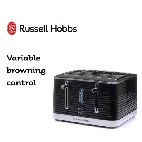 Inspire 4 Slice Toaster Black 360° RHT114BLK - Russe