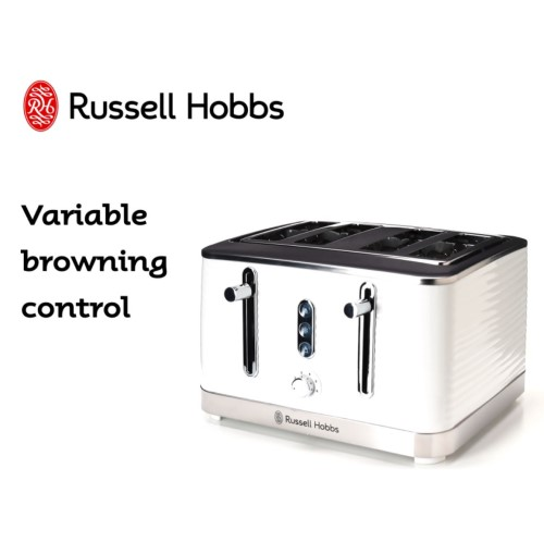 Inspire 4 Slice Toaster White 360° RHT114WHI - Russe