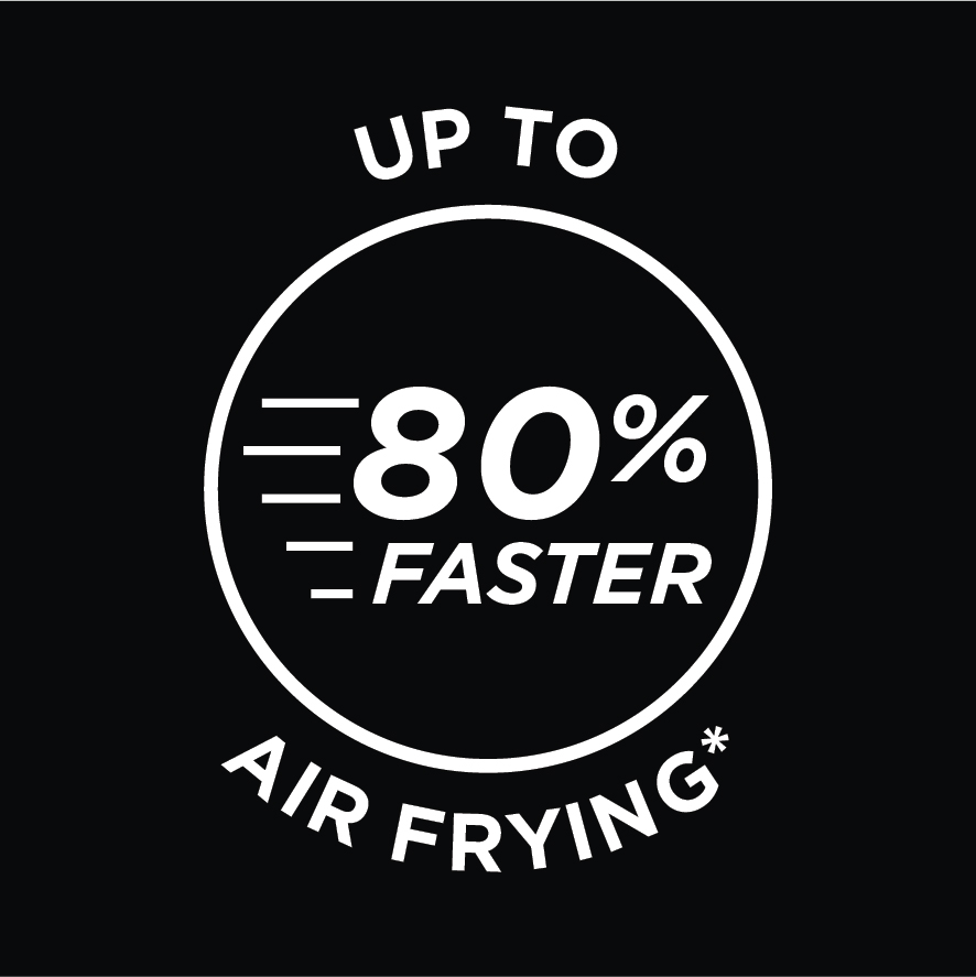 80% Faster Air Frying*