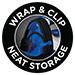 Wrap & Clip Neat Storage