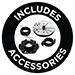 Includes Accessories