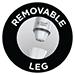 Removable Leg
