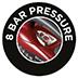 Pressão de 8 bares