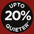 Até 20% mais silencioso*