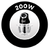 200 W