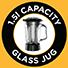 Jarro de vidro com capacidade de 1,5 l