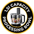 1.5L Capacity Processing Bowl