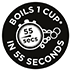 Boils 1 Cup in 55 Seconds*