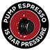 Bomba de 15 bares para espresso