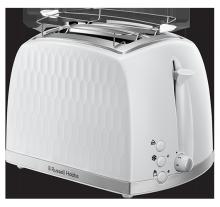 Toaster 2 fentes Honeycomb Blanc