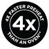 4x schnellere Aufheizzeit*
