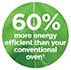 60% More Energy Efficient***