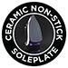 Non-stick ceramic soleplate