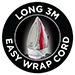Long 3m Easy Wrap Cord