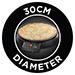 30cm diameter