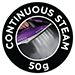 50g continuous steam