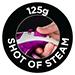 125g Shot of steam