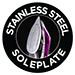 Stainless steel soleplate