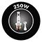 250 W teljesítmény