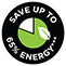 Save Up To 65% Energy