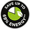 Save up to 69% Energy