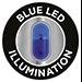 Illuminazione LED blu