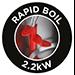 Ebollizione rapida - 2200W