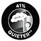 41% Quieter