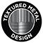 Design aus strukturiertem Edelstahl