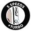 5 velocidades + função turbo