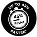 Fino al 45% più veloce